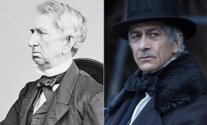 """William Seward as Secretary of State (left) and actor David Strathairn as Seward in the 2012 film """"Lincoln."""""""