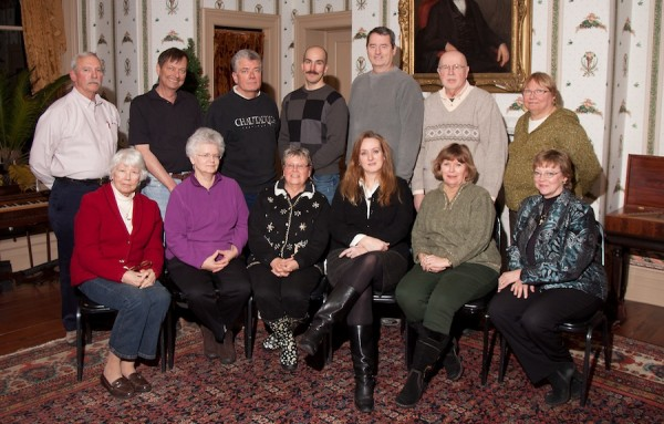 Pictured above is the Chautauqua County Historical Society's Board of Trustees for 2013. In front (L to R) are: Nancy Hanks, Cristie Herbst, Sharon Howe, Michelle Henry, Kathleen Crocker, Janese Berkhous. In back are (L to R): David Brown, James O'Brien (President), John Paul Wolfe (McClurg Museum Curator), Jason Sample, Bob Johnston, Jack Ericson and Catherine Way. Not shown are Sue Evans and Niles Dening. (Photo by Niles Dening)